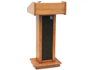 Podium (audio) oak freestanding02